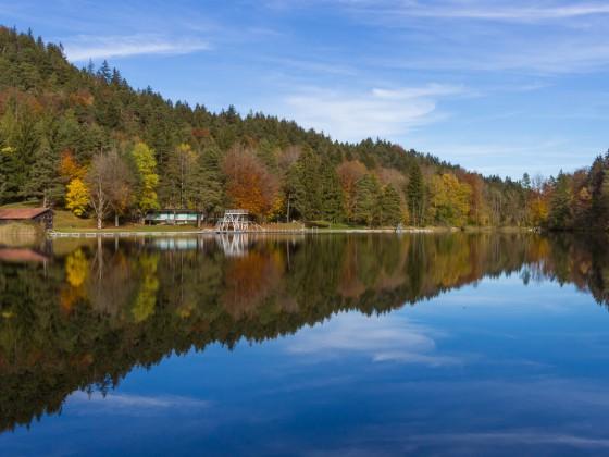Der Obere See beim Alatsee (bei Füssen)