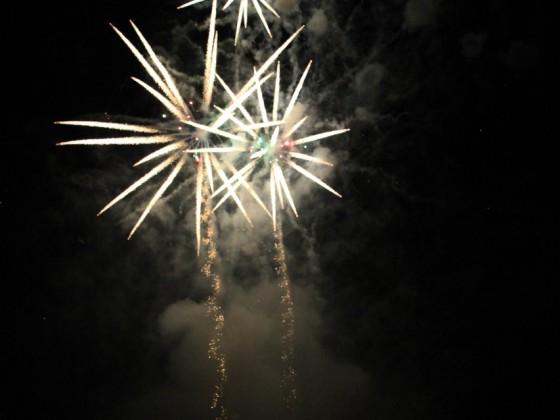 Feuerwerk am Aarburger Wasserfest 2010