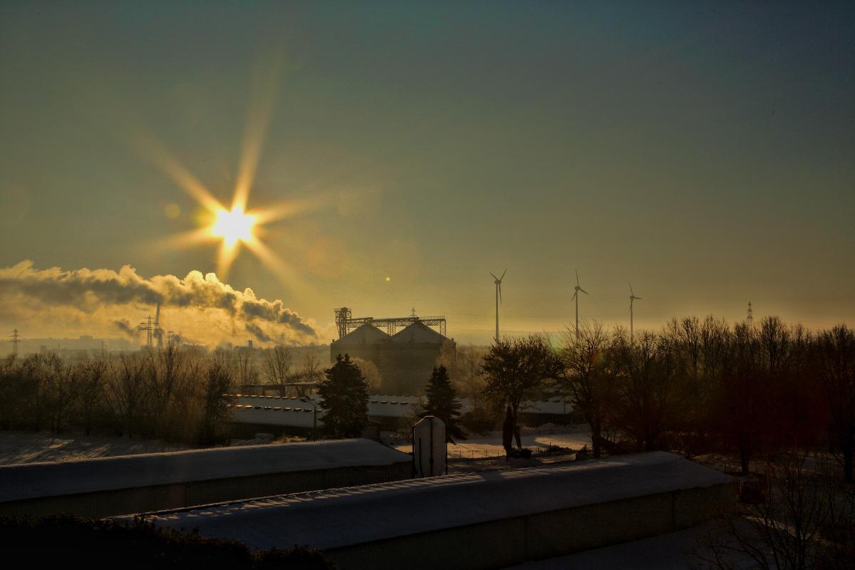 Sonnenaufgang über Zeitz / Sachsen Anhalt